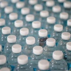 image of plastic bottles enmasse