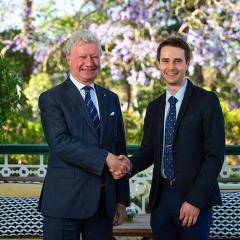 UQ university medal recipient Nicholas Salmon was named a 2020 Rhodes Scholar.