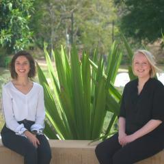 Ms Clara Botrel and Ms Ashley Kerrison (right)