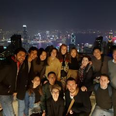 The UQ Architecture group at Hong Kong's Victoria Peak