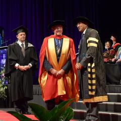 Trevor St Baker received his Honorary Doctorate at a UQ graduation ceremony in recognition of his contribution to the Australian energy sector and the community through business and philanthropy.