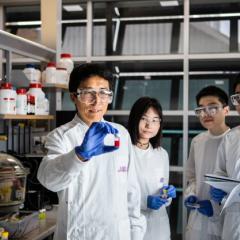 Prof Lianzhou Wang, Shanshan Ding, Mengmeng Hao, Dr Yang Bai