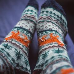 image of feet with socks
